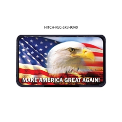 Eagle American Flag Hitch Cover   Tow Hitch Cover, Hitch Cover, Receiver Hitch Cover, Receiver Cover, USA Hitch Covers, Tailgating, Bottle Olpener Hitch Cover