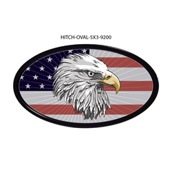 Eagle-USA Flag Hitch Cover  Tow Hitch Cover, Hitch Cover, Receiver Hitch Cover, Receiver Cover, USA Hitch Covers, Tailgating, Bottle Olpener Hitch Cover
