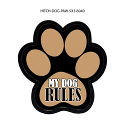 My Dog Rules Hitch Cover Tow Hitch Cover, Hitch Cover, Receiver Hitch Cover, Receiver Cover, USA Hitch Covers, Tailgating, Bottle Olpener Hitch Cover