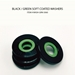 Washers ( Set of 4 Black & Green )  - Wash-Blk-5060