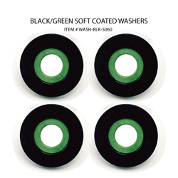 Washers ( Set of 4 Black & Green )