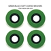 Washers ( Set of 4 Green & Black )  - Wash-Grn-5050