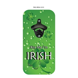 Kiss Me Im Irish Bottle Opener  Bottle, Bottle Opener, Beer, Soda, Magenetic Bottle Opener, Popncaps, Wicked Eye, Beer Pong, Beer Bong, American Made