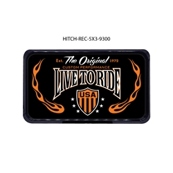 Live to Ride Hitch Cover Tow Hitch Cover, Hitch Cover, Receiver Hitch Cover, Receiver Cover, USA Hitch Covers, Tailgating, Bottle Olpener Hitch Cover
