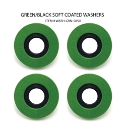 Washers ( Set of 4 Green & Black )